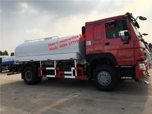 China WD615.87 290hp Engine Euro III  4x2 12m3 Water Tank Truck on sale