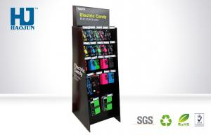 China Recycled Cardboard Hook Display , Phone Charger cardboard point of sale display on sale