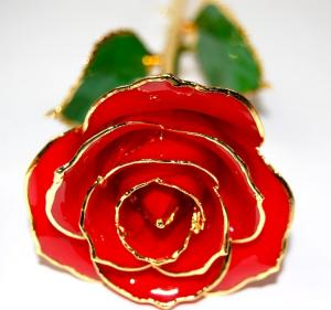 China Handmade 24k gold Dipped rose on sale
