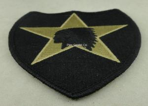 China USA Military Personalised Embroidered Badges , Embroidery Custom Cloth Patches on sale