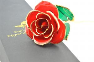China Handmade Real preserved roses 24k gold Dipped rose for Valentine's Day on sale