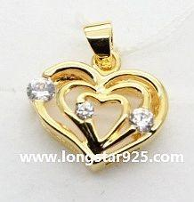 China 925 silver heart shape pendants wedding jewelry, wedding necklace on sale