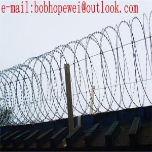 China barbed wire security fence/razor tape/stainless steel razor wire/razor wire fence suppliers/razor wire fence installatio on sale