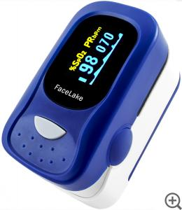 China Fingertip Pulse Oximeter Blood Oxygen Saturation Monitor With Digital Display on sale