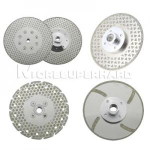 China Electroplated Diamond Cutting Blades & Discs for cutting and grinding marble, granite, thermosetting plastics on sale
