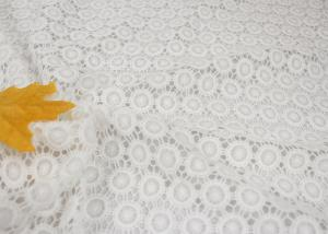 China White Chemical Water Soluble Guipure Lace Fabric By The Yard For Party Sexy Dress on sale