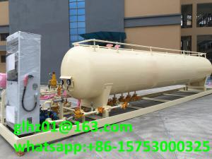 China 20M3 LPG skid mounted mobile LPG gas cylinder filling station with LPG tank on sale