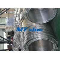 China 3 / 8 Inch ASTM A269 Small Diameter Stainless Steel Welded Super Long Coiled Steel Tubing on sale
