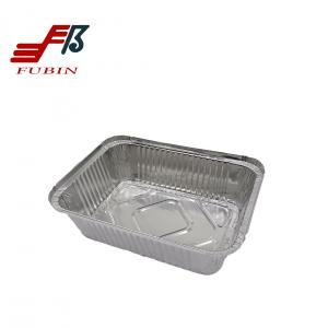China Disposable 450ml Aluminium Foil Container With Lid 1lbs on sale