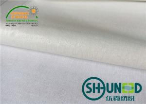 China White Heavy Weight Interfacing , Men And Women's Interlining Cloth on sale