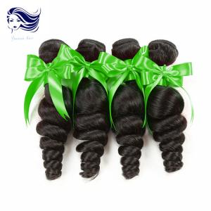 China 7A Sensationnel Unprocessed Human Hair Extensions Jet Black Wavy Hair on sale