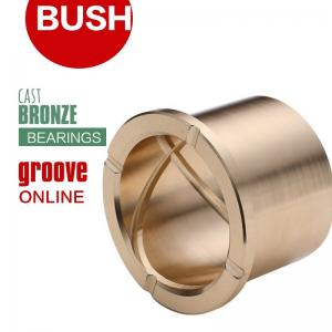 """1.5/"""" Brass bushing with id grooves greese grooves"""