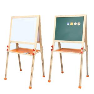 China New arrival foldable kids children multifunctional lifting double side magnetic wooden drawing board on sale