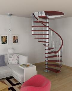 China Interior stainless steel wood staircase design on sale
