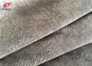 China Warp Knitting Polyester Sofa Cover Fabric , Soft Velvet Upholstery Fabric on sale