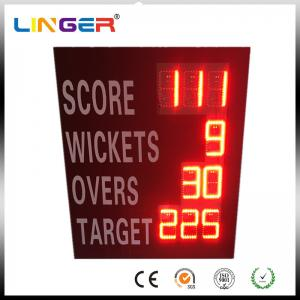 China Waterproof Iron Cabinet Portable Electronic Cricket Scoreboard Low Power Consumption on sale