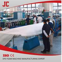 China EPE foam sheet machine JC-EPE120 India customer EPE foam machine foam mattress machine on sale