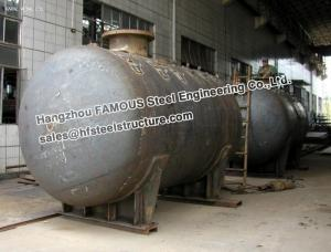 China Galanized Steel Industrial Pressure Vessel Vertical Storage Tank Equipment on sale