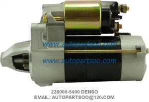 China Denso Starter Motor 228000-5400 WAI 18414N 12V 9Tooth 0.9kw Kubota Mower Front on sale