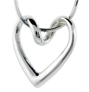 China MW-NK017 Customed women 925 Sterling Silver Heart Pendant Necklace Initial charms for Gift on sale