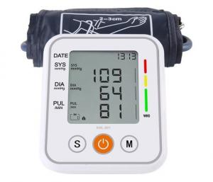 China Electronic Smart Upper Arm Digital Blood Pressure Monitor With Adult Cuff on sale