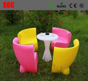 China Fireproof Plastic Outdoor Furniture Single Light Weight Chairs With Rechargeable Batteries on sale