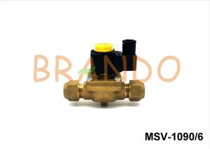 China Brass Natural Color Gas Solenoid Valve G3/4'' SAE MSV-1090/6 Diaphragm Structure on sale