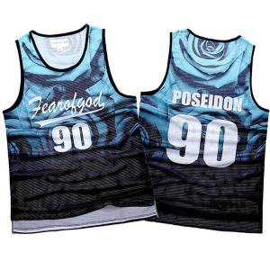 China Quick Dry Singlets  for Men Colorful Digital Printed Singlet  High Quality Sportswear Summer Wear on sale