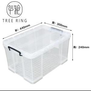 "China Transparent Useful Box Plastic Storage Box,44*30*24 cm, 17.3"" *11.8""*9.5"" ,Clear on sale"