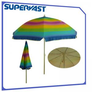 Iaf Certainfication Silver Coating Rainbow Color 6 Feet Small Beach Umbrella