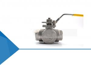 China Gas Pipe Line 1'' Port 3 Way Hydraulic Actuated Ball Valve on sale