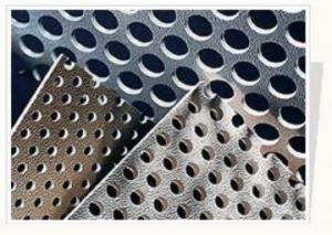 China Architecture Slotted Perforated Stainless Steel Sheets With Round / Square Hole on sale