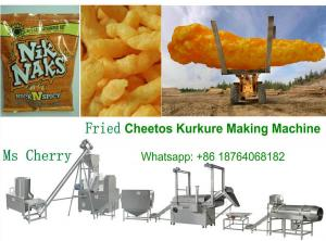 China niknaks kurkure processing line cheetos corn snack food making machine on sale
