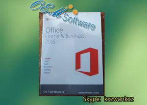 China Genuine Office 2016 PKC 64 Bit DVD Pack , Office 2016 Home And Business Key Code on sale