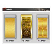 China Concave Golden Elevator Cabin Decoration Stainless Steel Door Plates on sale