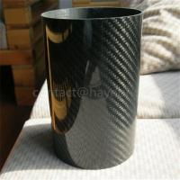 China Large Diameter Twill Carbon Fiber Tube on sale