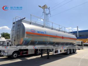 China 50CBM Aluminum Fuel Tank Trailer For Long Distance Delivery on sale