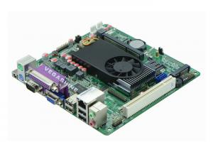 China 5 COM , 8 USB Mini Itx Industrial PC Motherboard Atom D525 Processor support VGA , LVDS on sale