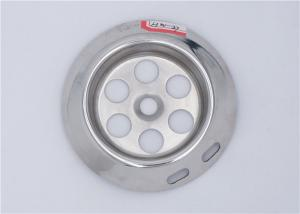 China Stainless Steel Bathroom Basin Strainer OD 67 mm 0.4 - 0.6 mm Thickness on sale