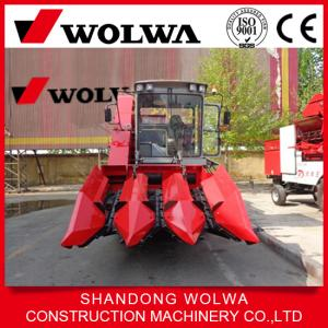 China Hot Sale W4YM-3A 140hp Corn Combine Harvester Wheel Self-propelled mini corn harvester on sale