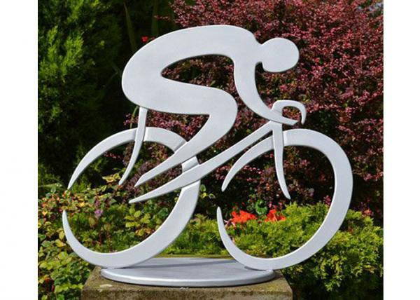 Durable Art Cycling Large Garden Sculptures Contemporary Garden