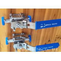 China Dn25 Tp316l Threaded Stainless Steel Ball Valve Sanitary Bpe Valves Easy Operation on sale