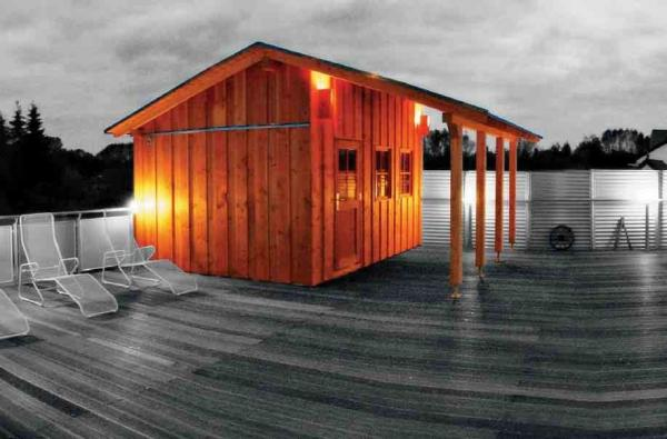 Traditional Outdoor Sauna Kit 4 Person Hemlock House Images