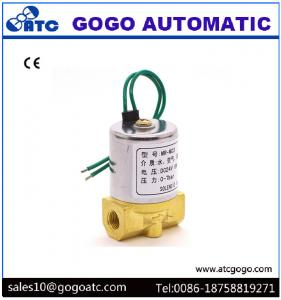 China NC Brass BSP 1/8 Small Water Solenoid Valve for Gasoline / Diesel Fuel Oil on sale