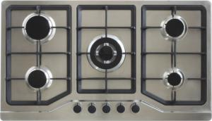 China Super Flame Home Gas Stove , Five Burner Gas Cooker AC / Battery Ignition Type on sale