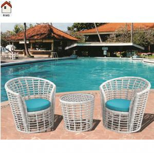 China modern white rattan set plastic rattan outdoor furniture RMS-0096 on sale
