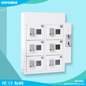 China Self Service Wall Mounted Coin Operated Cell Phone Charging Station locker on sale
