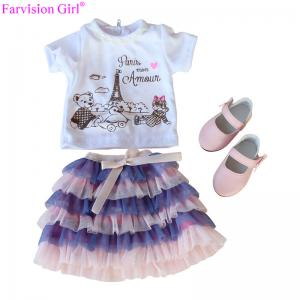China Wholesale leisure wear colorful doll cloth set dress toy accessories for girl on sale