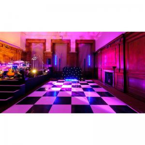 Quality Black And White Dance Floor For Hire Wedding Collapse Party On The