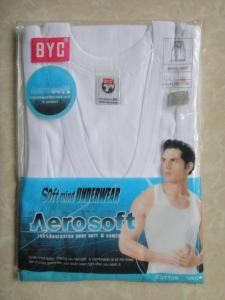 China Mens BYC sleeveless tc vest in white on sale